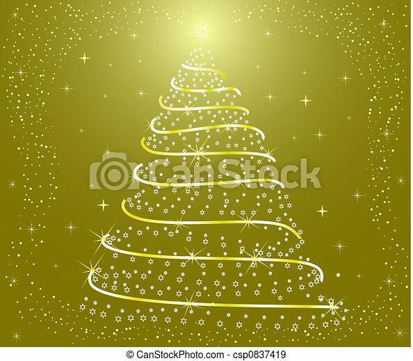 Abstrae el árbol de Navidad - csp0837419