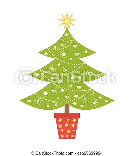 Árbol de Navidad - csp23639934