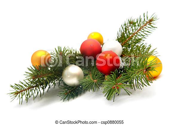 La decoración del árbol de Navidad - csp0880055