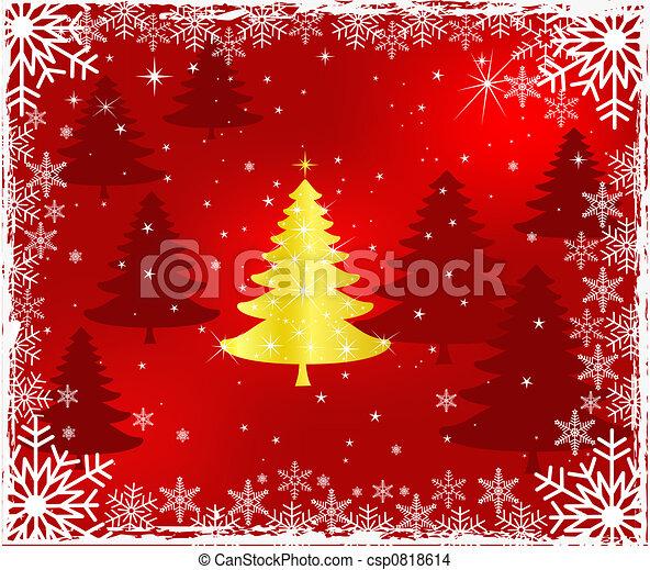 Diseño de árbol de Navidad - csp0818614