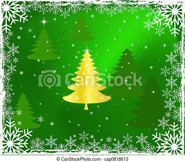 Diseño de árbol de Navidad - csp0818613