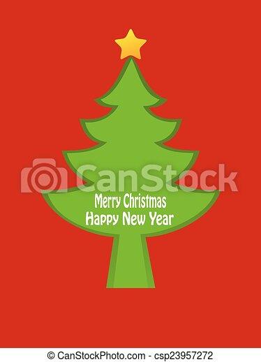 Rbol dise o tarjeta de navidad rbol dise o plano de - Arbol navidad diseno ...