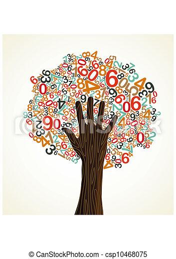 El concepto escolar de la mano de árbol - csp10468075