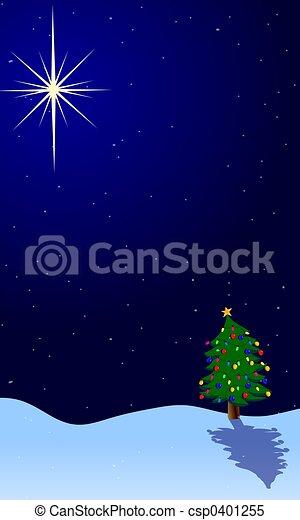 Estrella de árbol de Navidad - csp0401255