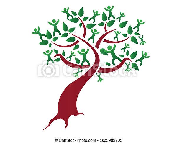 Un árbol genealógico - csp5983705