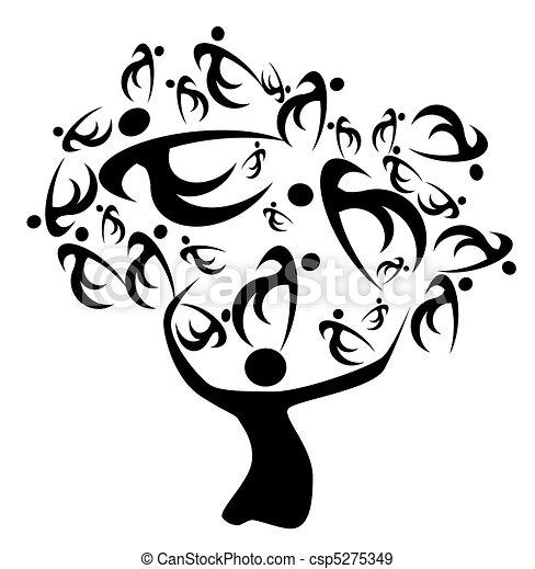 árbol, familia  - csp5275349