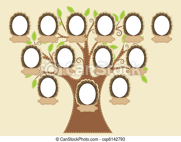 Árbol familiar - csp6142793