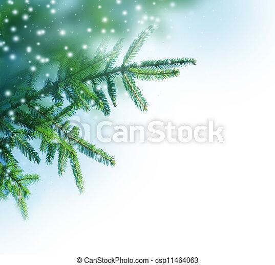 La frontera del árbol de Navidad - csp11464063