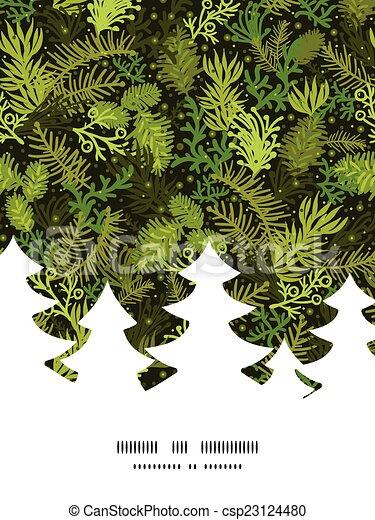 Rbol hoja perenne silueta patr n marco rbol vector for Ver fotos de arboles de hoja perenne