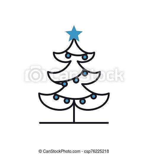 árbol, icono, navidad, pino, alegre - csp76225218