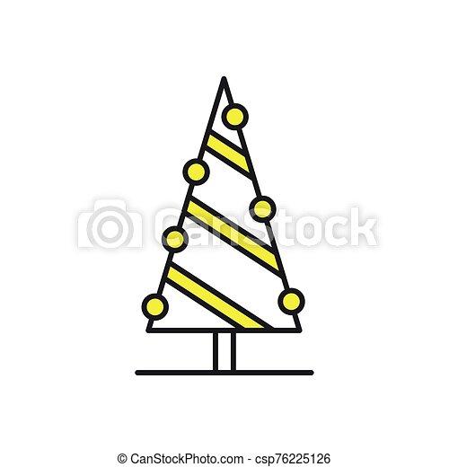 árbol, icono, navidad, pino, alegre - csp76225126