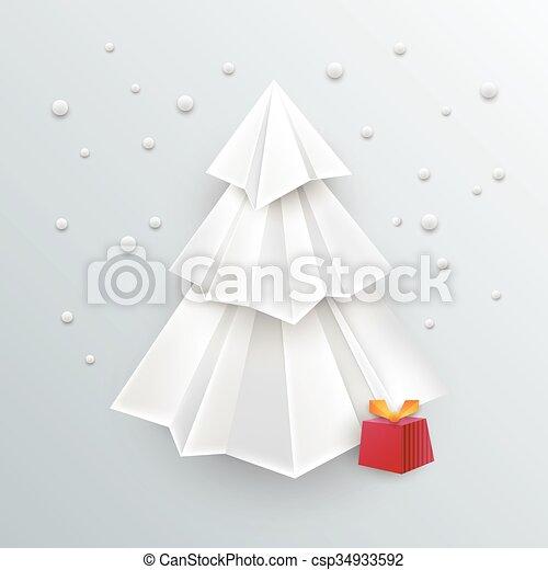 Dibujos Impresionantes De Navidad.Arbol Impresionante Papel Plano De Fondo Origami Navidad 3d