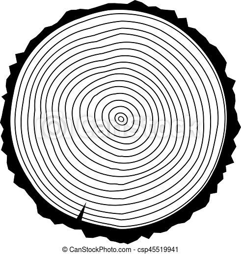 Anillos de árbol - csp45519941