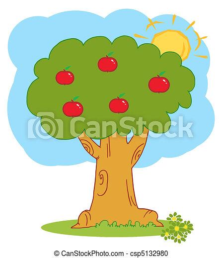 Manzana con manzanas rojas - csp5132980