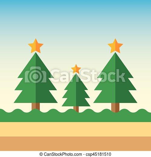 Árbol de Navidad - csp45181510