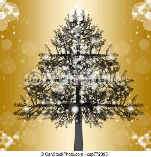 árbol, navidad - csp7723951