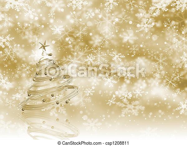 Árbol de Navidad - csp1208811