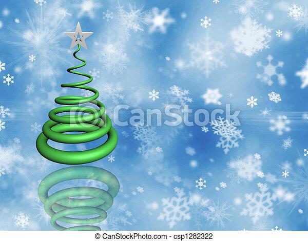 Árbol de Navidad - csp1282322