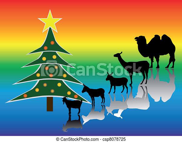 Árbol de Navidad - csp8078725