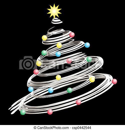 Árbol de Navidad - csp0442544