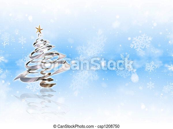 Árbol de Navidad - csp1208750