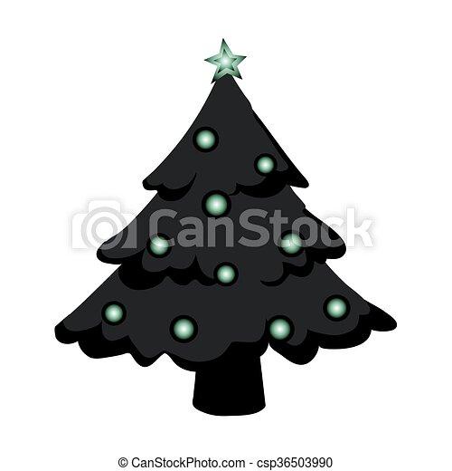 árbol, navidad - csp36503990