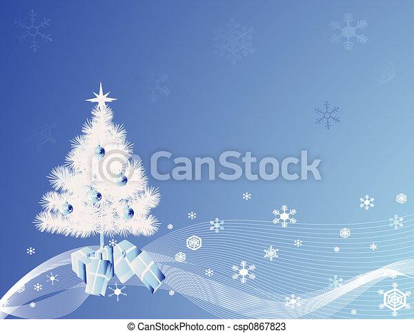 Árbol de Navidad - csp0867823