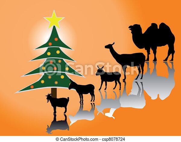 Árbol de Navidad - csp8078724