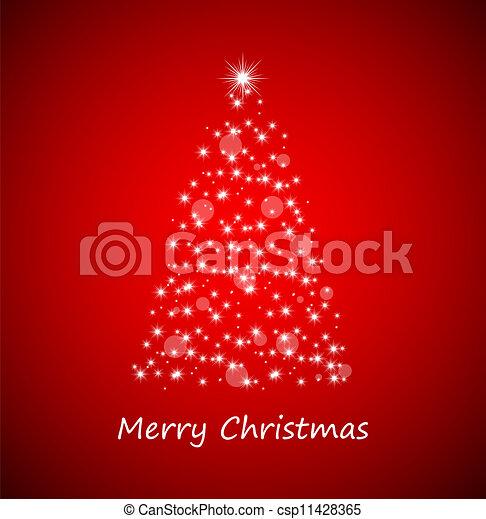 Árbol de Navidad de estrellas - csp11428365