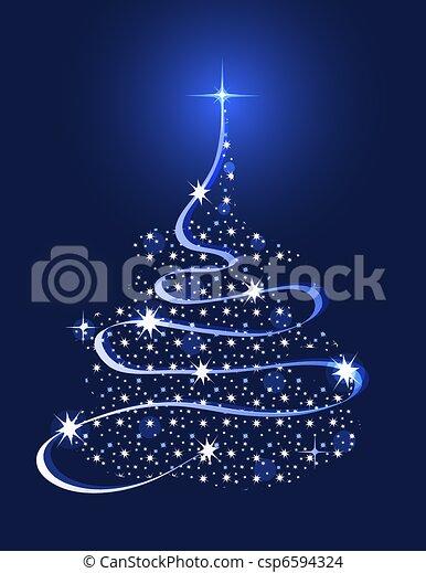 Árbol de Navidad con estrellas - csp6594324