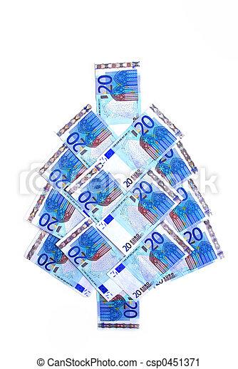 Euro árbol de Navidad - csp0451371