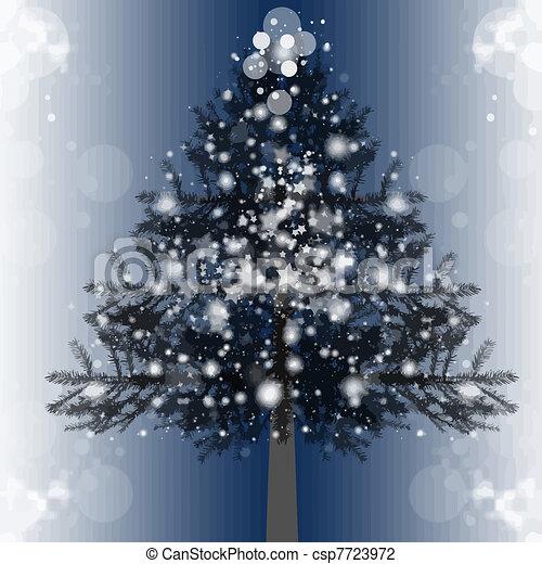 árbol, navidad - csp7723972