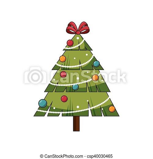 Árbol de pino de Navidad - csp40030465