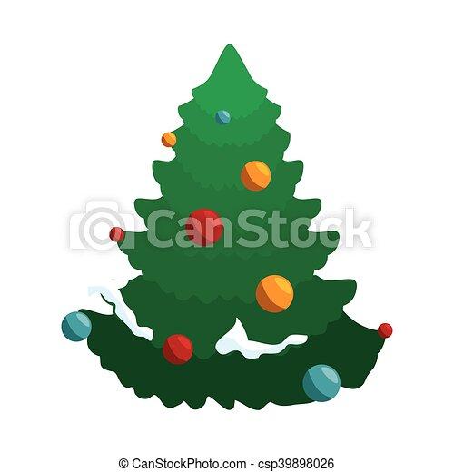 Árbol de pino de Navidad - csp39898026