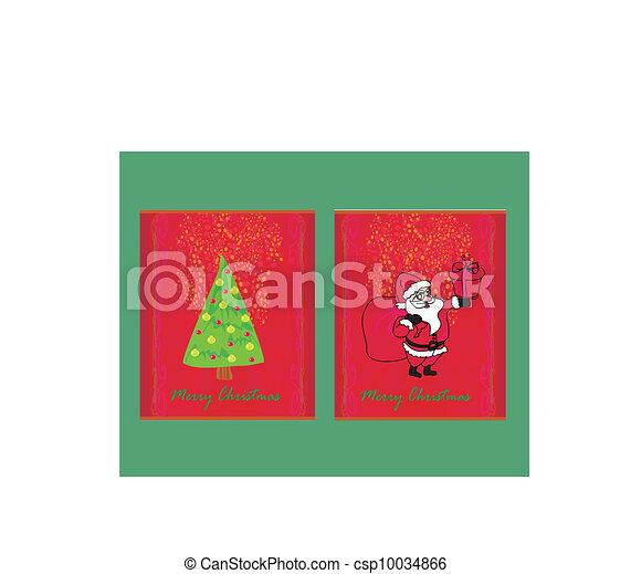 Santa y el árbol de Navidad - csp10034866