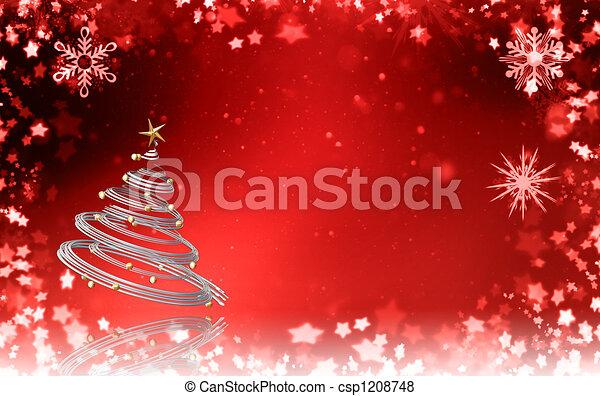 Árbol de Navidad - csp1208748