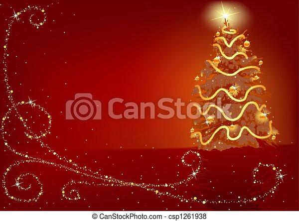 Árbol de Navidad - csp1261938