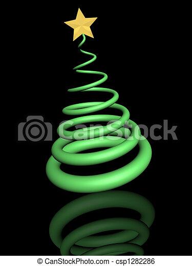 Árbol de Navidad - csp1282286