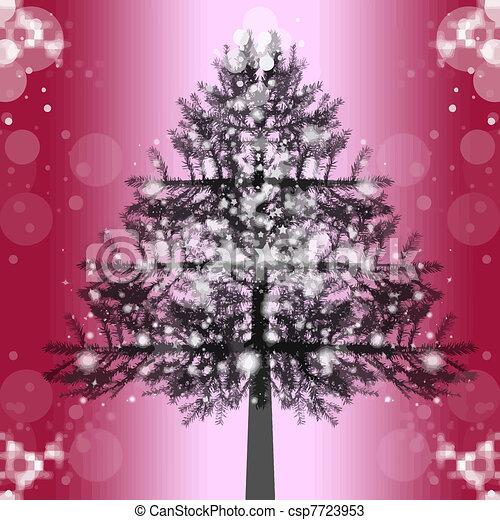árbol, navidad - csp7723953