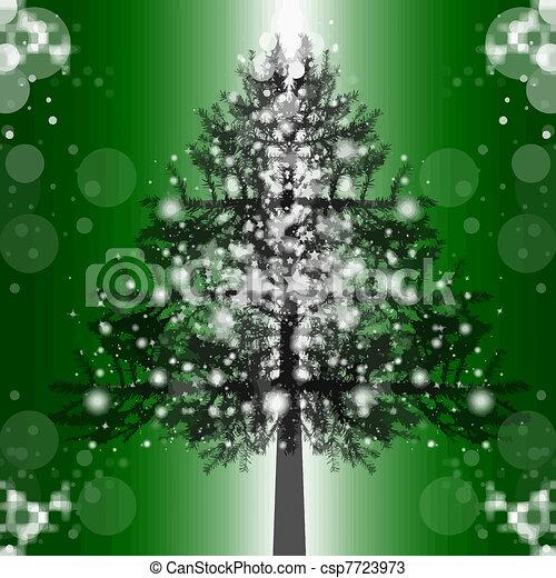 árbol, navidad - csp7723973