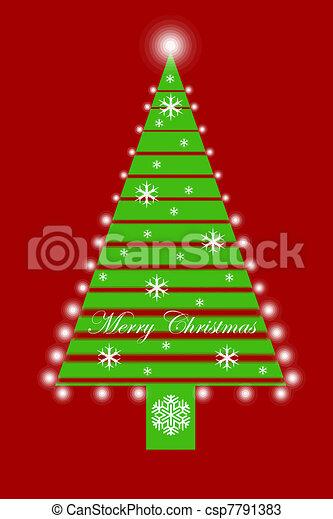 árbol, navidad - csp7791383