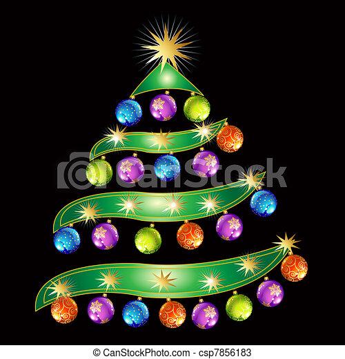 Árbol de Navidad - csp7856183