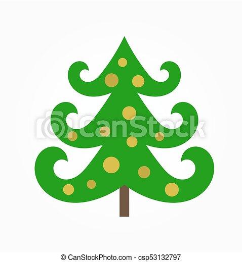 Árbol de Navidad con adornos - csp53132797