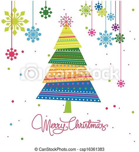Árbol de Navidad con adornos de Navidad - csp16361383