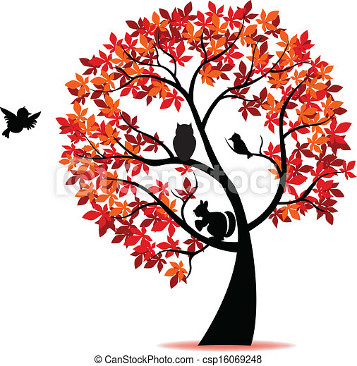 Silueta de árbol - csp16069248