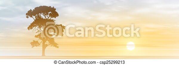 Árbol solitario - csp25299213