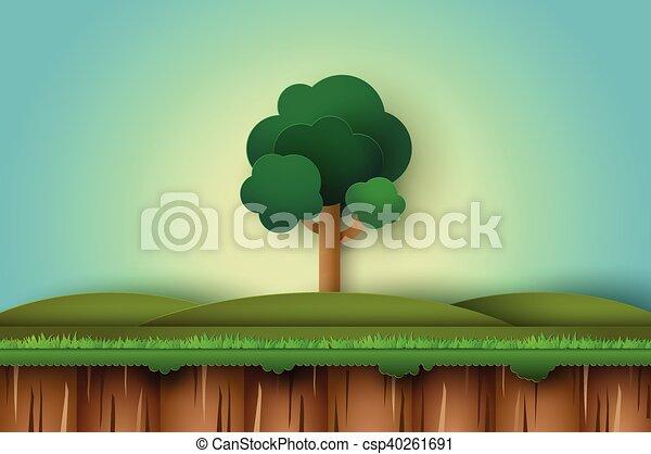 Un árbol solitario - csp40261691