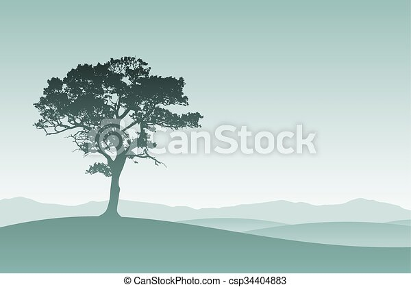 Árbol solitario - csp34404883