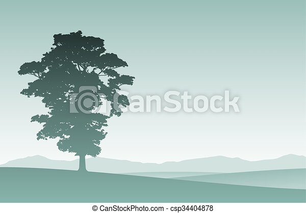 Árbol solitario - csp34404878