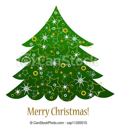 Tarjeta de árbol de Navidad - csp11320015